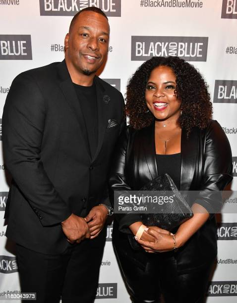 Director Deon Taylor and actress Brely Evans attends Black and Blue Atlanta special screening after party at Sweet Auburn BBQ on October 23 2019 in...