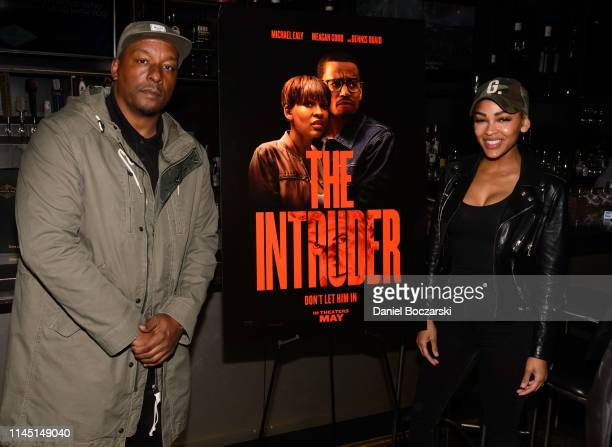 Director Deon Taylor and Meagan Good attend the Chicago screening of The Intruder at Davis Theater on April 25 2019 in Chicago Illinois