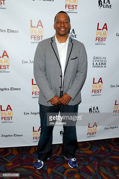Director Deon Taylor attends the Supremacy premiere during the 2014 Los Angeles Film Festival at Regal Cinemas LA Live on June 12 2014 in Los Angeles...