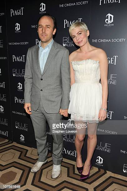 Director Derek Cianfrance and actress Michelle Williams attend the Cinema Society Piaget screening of 'Blue Valentine' at theTribeca Grand Hotel on...