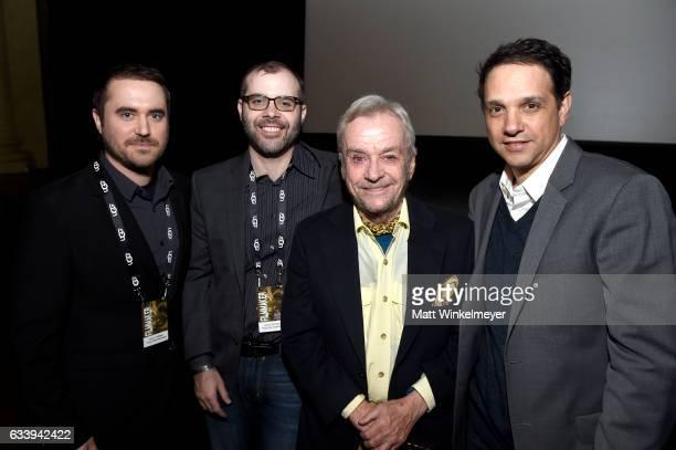Director Derek Wayne Johnsonon producer Chris May director/subject John G Avildsen and actor/subject Ralph Macchio attend a screening of'John G...