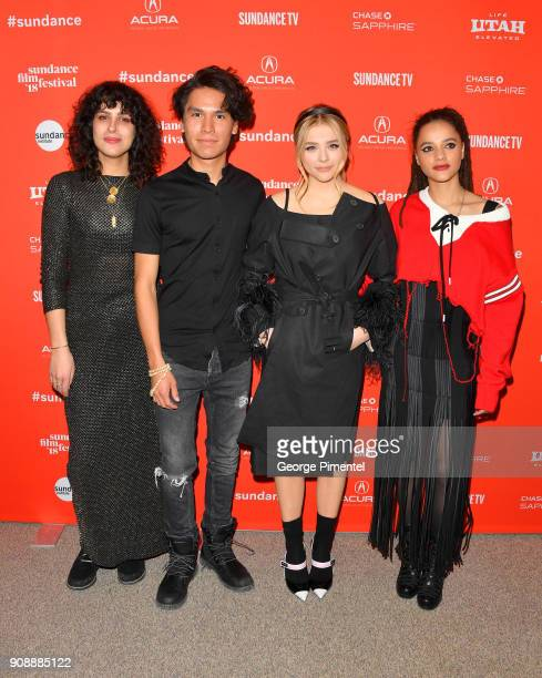 Director Desiree Akhavan and actors Forrest Goodluck Chloë Grace Moretz and Sasha Lane attend the 'The Miseducation Of Cameron Post' And 'I Like...