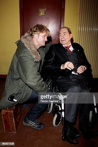 Director Detlev Buck and actor Ezard Haussmann attend the 'ErnstLubitschAward 2010' at cinema Babylon on February 10 2010 in Berlin Germany