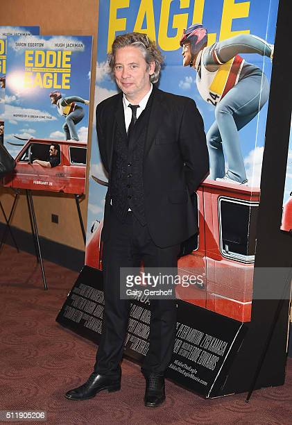 Director Dexter Fletcher attends the 'Eddie The Eagle' New York screening at Chelsea Bow Tie Cinemas on February 23 2016 in New York City