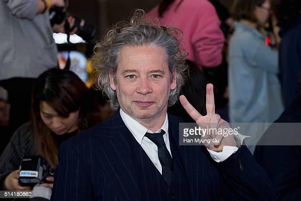 Director Dexter Fletcher attends the premiere for 'Eddie The Eagle' on March 7 2016 in Seoul South Korea Taron Egerton Hugh Jackman and Dexter...