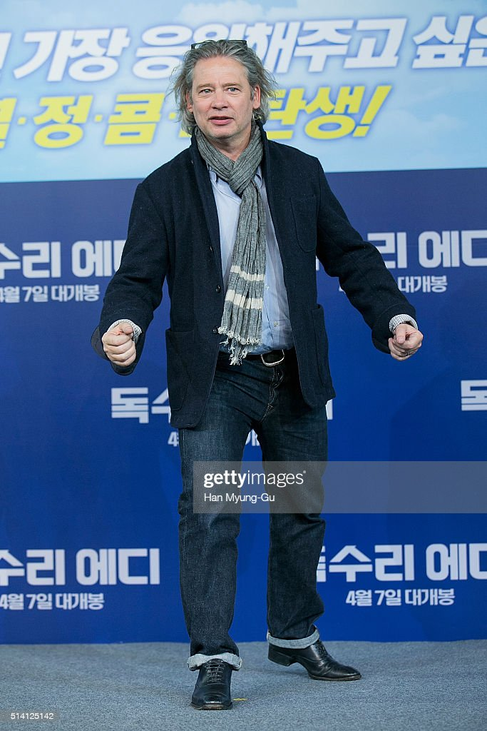 """Eddie The Eagle"" Press Conference In Seoul"