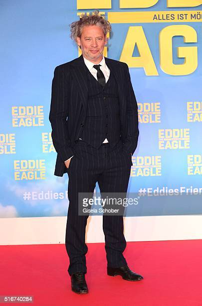 Director Dexter Fletcher during the 'Eddie the Eagle' premiere at Mathaeser Filmpalast on March 20 2016 in Munich Germany