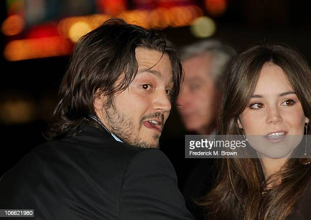 Director Diego Luna and wife Camila Sodi arrive at 'Abel' screening during AFI FEST 2010 presented by Audi at Grauman's Chinese Theatre on November 7...