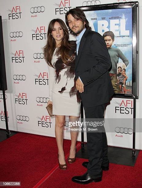 Director Diego Luna and wife Camila Sodi arrive at Abel screening during AFI FEST 2010 presented by Audi at Grauman's Chinese Theatre on November 7...