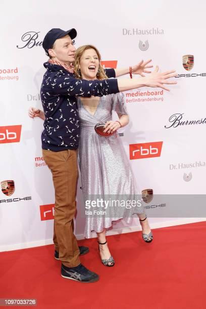 Director Dietrich Brueggemann and German actress Franziska Weisz attend the Medienboard Berlin-Brandenburg Reception on the occasion of the 69th...