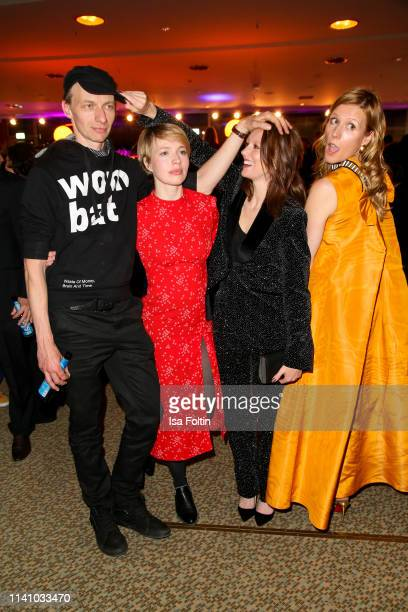 Director Dietrich Brueggemann German actress Lavinia Wilson German actress Anna Brueggemann and German actress Franziska Weisz attend the Lola German...