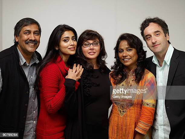 Director Dilip Mehta, actors Shriya Saran, Lisa Ray, actress Seema Biswas and actor Don McKellar from the film 'Cooking With Stella' pose for a...