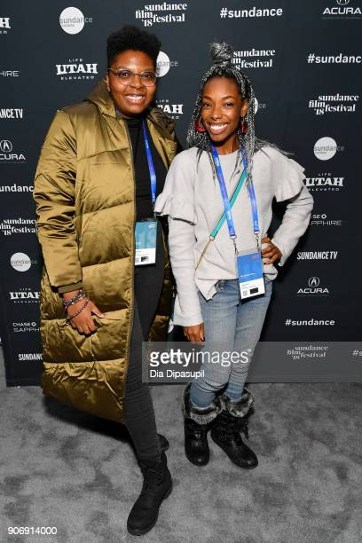 Director Dime Davis and Producer Elle Lorraine attend the Filmmakers Welcome Reception during the 2018 Sundance Film Festival at The Shop on January...