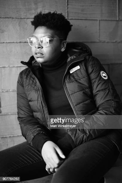 Director Dime Davis visits the Canada Goose Director Suite during the 2018 Sundance Film Festival at Park City Marriott on January 20 2018 in Park...