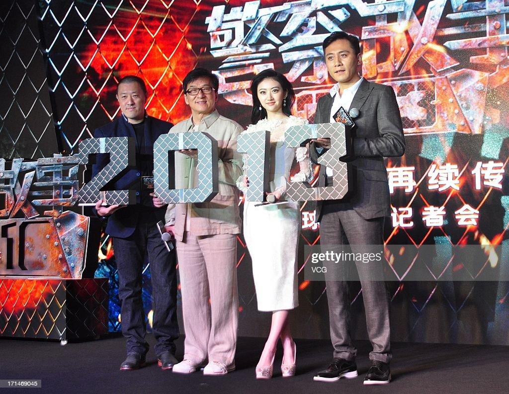 Director Ding Sheng, actor Jackie Chan, actress Jing Tian