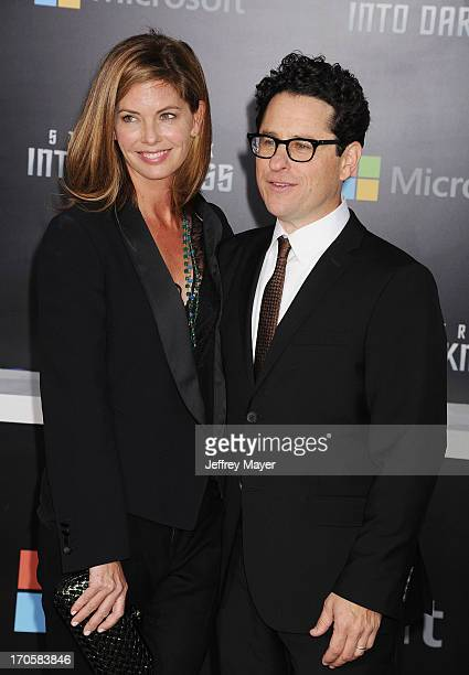 Director Director JJ Abrams and wife Katie McGrath arrive at the Los Angeles premiere of 'Star Trek Into Darkness' at Dolby Theatre on May 14 2013 in...