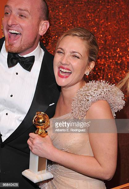 Director Director Michael Sucsy and actress Drew Barrymore arrives with her Best Performance by an Actress in a MiniSeries or a Motion Picture Made...