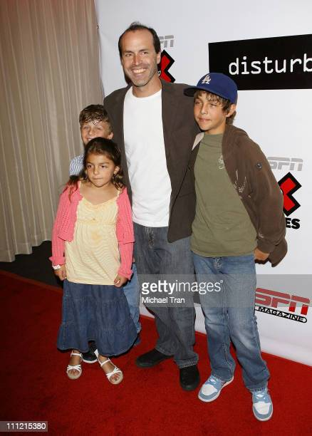 Director DJ Caruso and his children arrives at the Disturbia DVD release party at The Standard Hotel on August 2 2007 in Los Angeles California