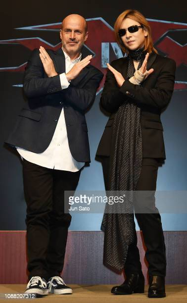 Director DJ Caruso and Yoshiki attend the press conference for 'xXx 4' at the Park Hyatt Hotel on January 25 2019 in Tokyo Japan