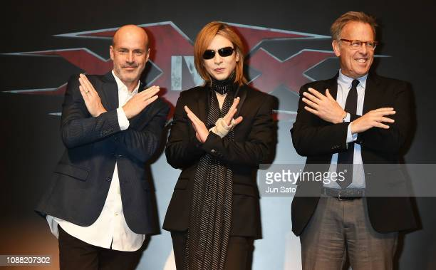 Director DJ Caruso Yoshiki and producer Mark Johnson attend the press conference for 'xXx 4' at the Park Hyatt Hotel on January 25 2019 in Tokyo Japan