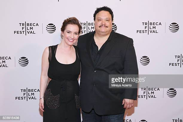 Director Domenica Cameron Scorsese and actor Adrian Martinez attend the Almost Paris premiere during 2016 Tribeca Film Festival at Chelsea Bow Tie...