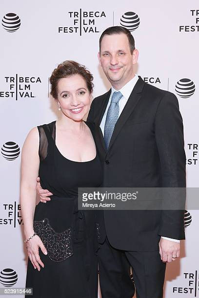 Director Domenica Cameron Scorsese and Tony Frenzel attend the Almost Paris premiere during 2016 Tribeca Film Festival at Chelsea Bow Tie Cinemas on...