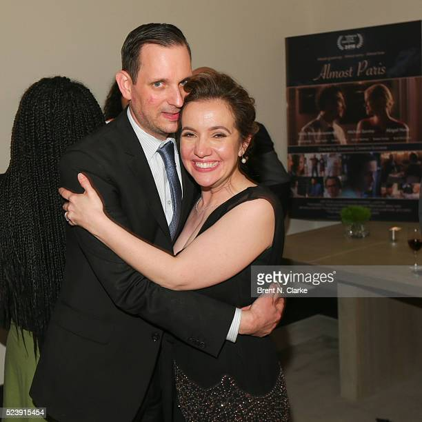 Director Domenica CameronScorsese and husband Tony Frenzel attend the Almost Paris premiere after party on April 24 2016 in New York City