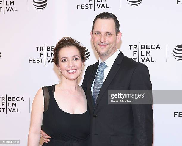 Director Domenica CameronScorsese and Tony Frenzel attend Almost Paris Premiere 2016 Tribeca Film Festival at Chelsea Bow Tie Cinemas on April 24...