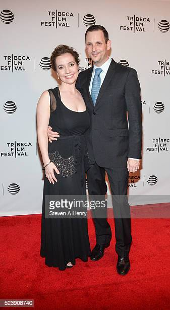 Director Domenica CameronScorsese and Tony Frenzel attend the Almost Paris premiere during the 2016 Tribeca Film Festival at Chelsea Bow Tie Cinemas...