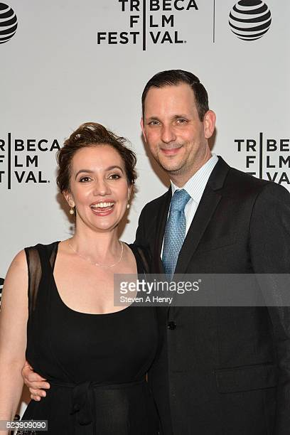 Director Domenica CameronScorsese and Tony Frenzel attend the Almost Paris Premiere 2016 Tribeca Film Festival at Chelsea Bow Tie Cinemas on April 24...