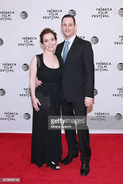 Director Domenica CameronScorsese and Tony Frenzel attend the Almost Paris premiere during 2016 Tribeca Film Festival at Chelsea Bow Tie Cinemas on...