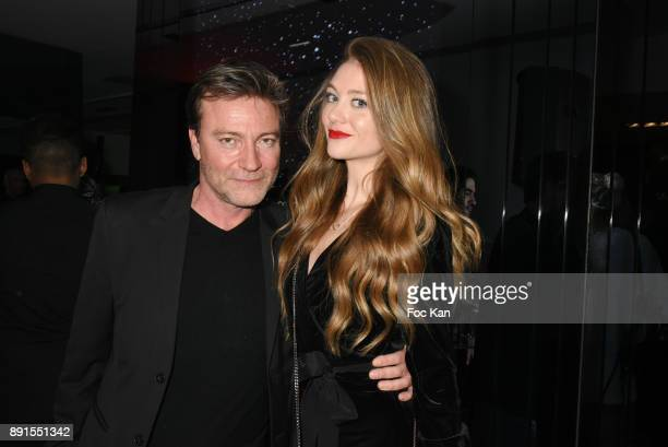 Director Dominic Bachy and TV presenter Cyrielle Joelle attend the Star Wars Party at Le Saint Fiacre on December 12 2017 in Paris France