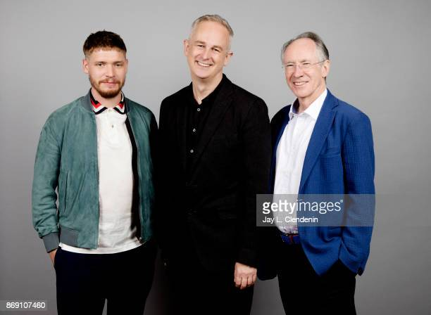 Director Dominic Cooke actor Billy Howle and Ian McEwan from the film 'On Chesil Beach' poses for a portrait at the 2017 Toronto International Film...