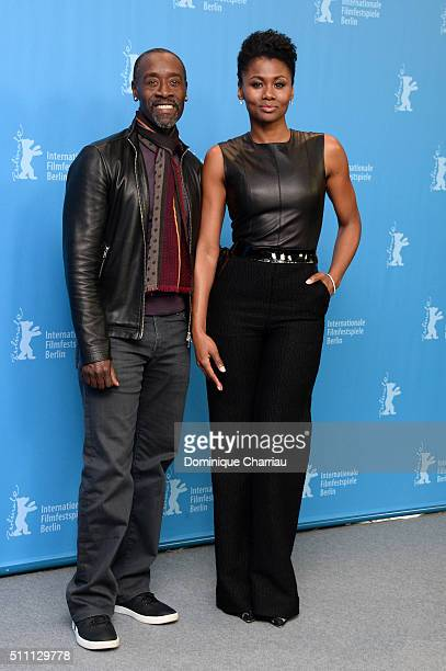 Director Don Cheadle and actress Emayatzy Corinealdi attend the 'Miles Ahead' photo call during the 66th Berlinale International Film Festival Berlin...