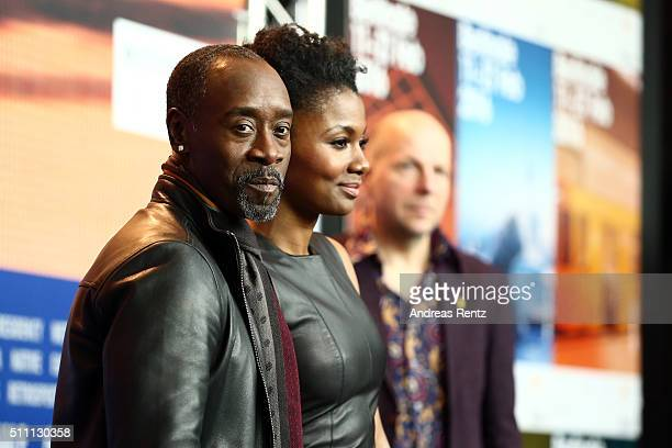 Director Don Cheadle and actress Emayatzy Corinealdi attend the 'Miles Ahead' press conference during the 66th Berlinale International Film Festival...