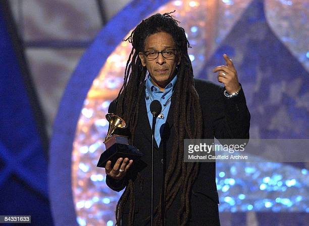 Director Don Letts accepts his GRAMMY Award for Best Long Form Music Video for The Clash Westway to the World
