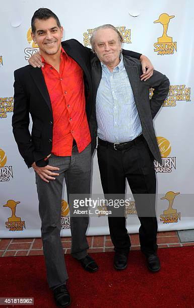 Director Don Mancini and actor Brad Dourif arrive for the 40th Annual Saturn Awards held at The Castaway on June 26 2014 in Burbank California