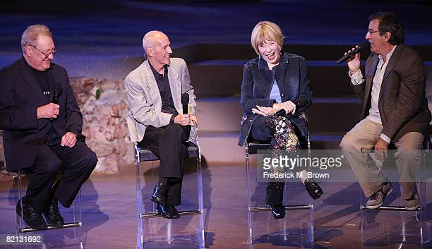 Director Don Mischer choreographer Alan Johnson actress Shirley MacLaine and choreographer Kenny Ortega speak during the TV Moves Magic Moments of...