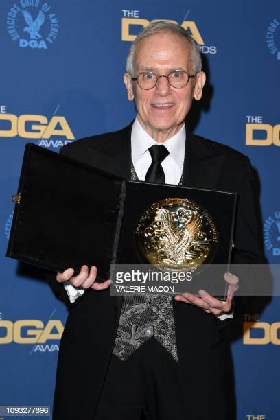 Director Don Roy King poses with the award for Outstanding Directorial Achievement in Variety/Talk/News/Sports Regularly Scheduled Programming for...