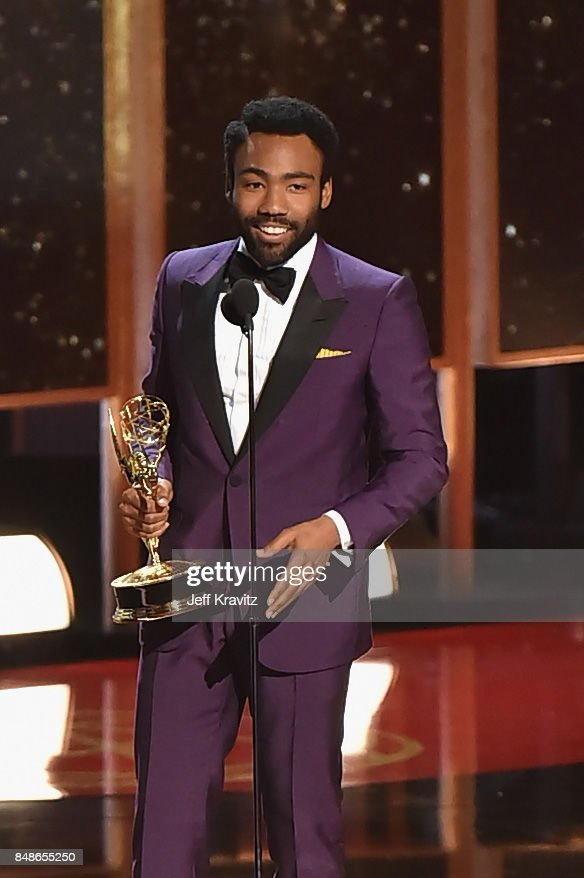 Director Donald Glover accepts the Outstanding Directing for a Comedy Series award for 'Atlanta' onstage during the 69th Annual Primetime Emmy Awards at Microsoft Theater on September 17, 2017 in Los Angeles, California.