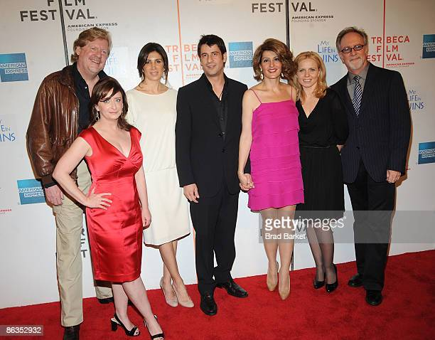 Director Donald Petrie, actor Rachel Dratch, producer Nathalie Marciano, actors Alexis Georgoulis, Nia Vardalos, producer Michelle Chydzik, and actor...