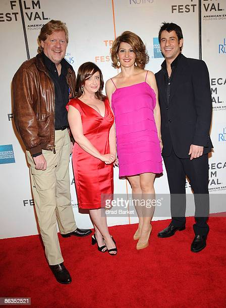 "Director Donald Petrie, actors Rachel Dratch, Nia Vardalos, and Alexis Georgoulis attend the premiere of ""My Life in Ruins"" during the 2009 Tribeca..."