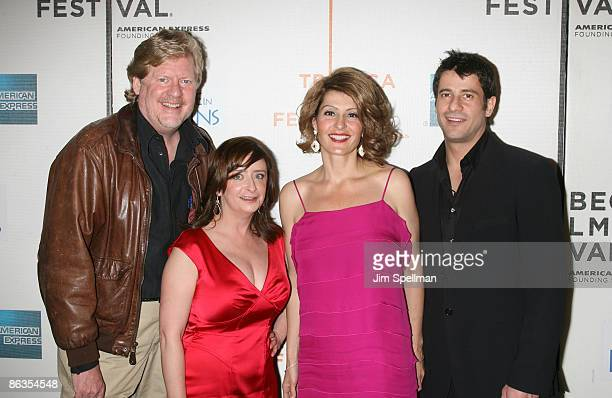 Director Donald Petrie Actors Rachel Dratch Nia Vardalos and Alexis Georgoulis attend the premiere of My Life in Ruins during the 8th Annual Tribeca...