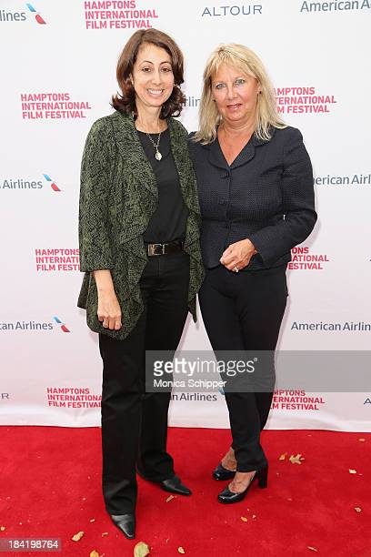 Director Donna Zaccaro and Janice DeRosa attend the 21st Annual Hamptons International Film Festival on October 11 2013 in East Hampton New York