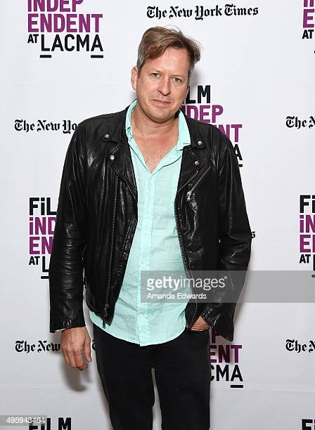 Director Doug Aitken attends the Film Independent at LACMA An Evening With Doug Aitken Station To Station event at the Bing Theatre At LACMA on...