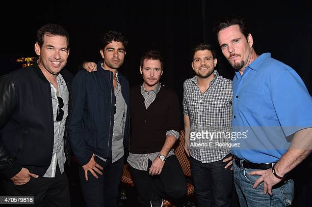 Director Doug Ellin actors Adrian Grenier Kevin Connolly Jerry Ferrara and Kevin Dillon attend Warner Bros Pictures Invites You to 'The Big Picture'...