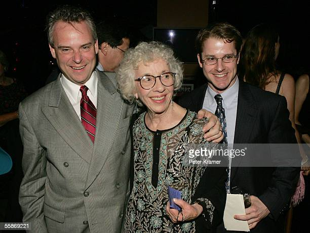 Director Doug Hughes actress Ann Guilbert and assistant director Mark Schneider attend the after party for the opening night of 'A Naked Girl on the...