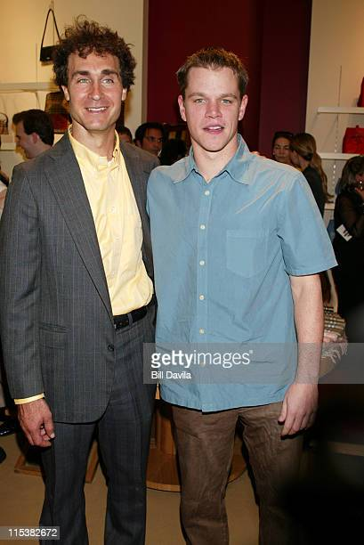 Director Doug Liman and Matt Damon during 'The Bourne Identity' Party to Benefit the Legal Action Center at Burberry Store in New York City New York...
