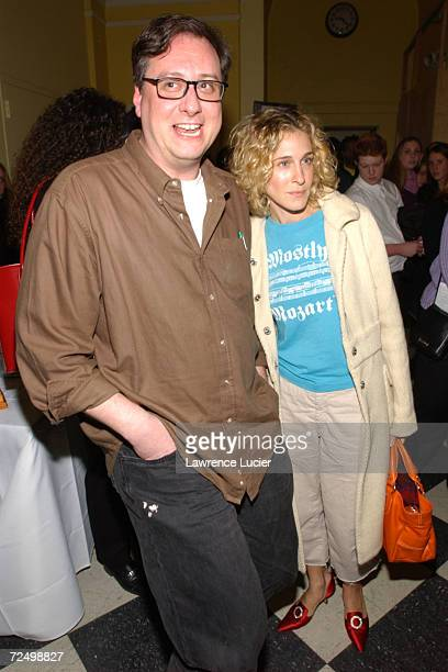 Director Douglas Carter Beane and actress Sarah Jessica Parker arrive at a performance of the musical Free to BeYou and Me February 25 2002 in New...