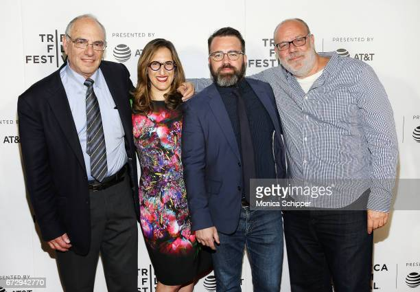 Director Dr Howard Weiner producers Tamar Sela and Peter Pastorelli and director Yaron Zilberman attend the premiere of The Last Poker Game during...
